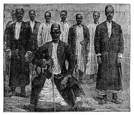 비참한 아프리카 장로의 빅토리 안 조각 스톡 콘텐츠