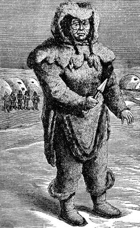 anthropology: Victorian engraving of an Inuit