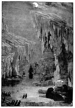 arctic: Victorian engraving of an Arctic sailing expedition