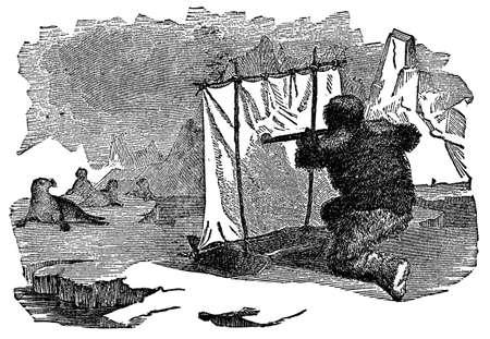 인감 사냥꾼의 빅토리아 조각
