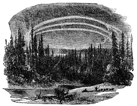 Victorian engraving of an Arctic landscape