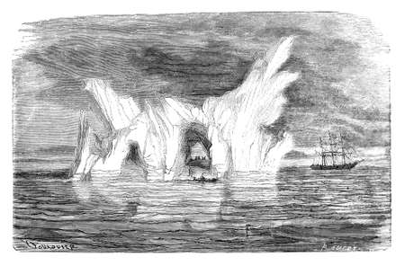 19th: 19th century engraving of an iceberg
