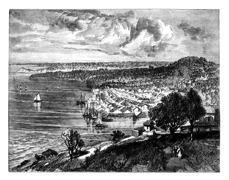 말라카의 19 세기 조각 스톡 콘텐츠