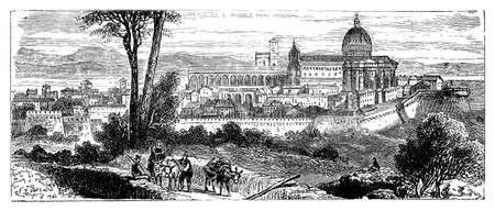 19th century view of Florence, Italy Reklamní fotografie