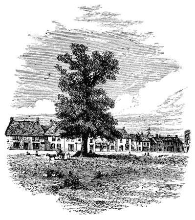 町・ オルニー、バッキンガムシャー、英国の 19 世紀の彫刻