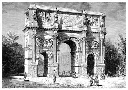 triumphal: Arch of Constantine, Rome Stock Photo