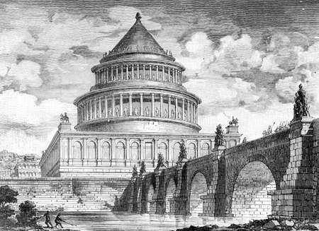 mausoleum: Victorian engraving of the Castel Sant Angelo, Rome