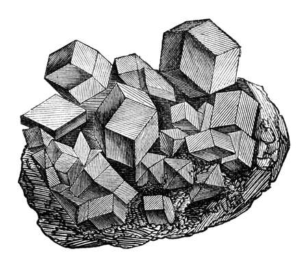 magnetite: 19th century engraving of magnetite