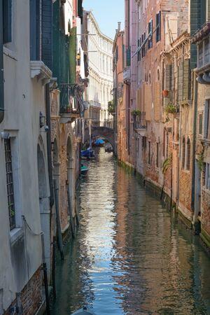 View of the Venetian street in vertical format