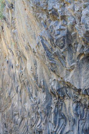 Rocks in the Alcantara Gorge in vertical format Stock Photo
