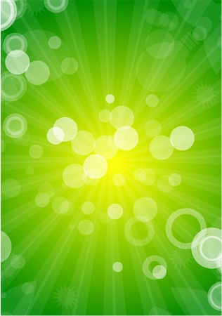 green and yellow: Abstract vector shiny background Illustration