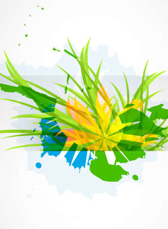beautiful summer growth: Abstract beautiful flower background Illustration