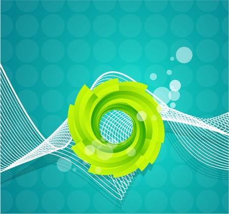Vector swirl background Stock Vector - 9839995