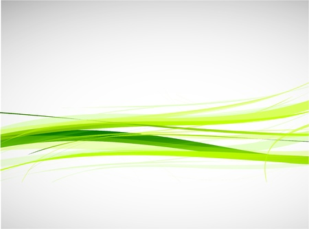 wave design: Green lines