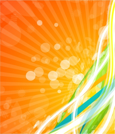 Vector color lines. Abstract vector background Stock Vector - 9840044