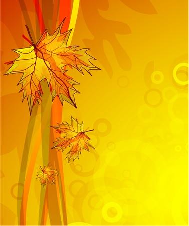 Fondo de otoño de vectores abstractos