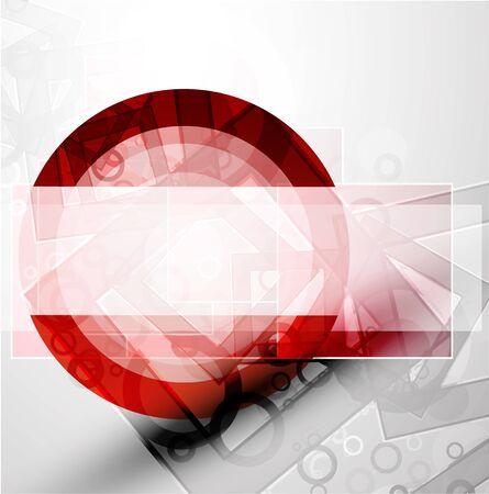 Abstract techno circle vector background Stock Vector - 9840186