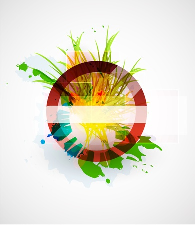 Abstract floral vector circle background Stock Photo - 9840110