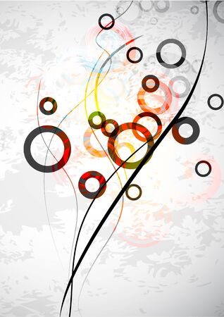 Abstract grungy circles. Vector background Vector