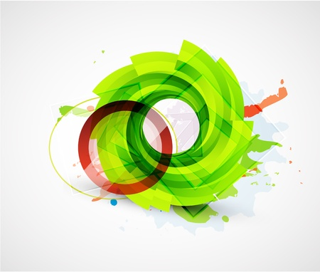 colour image: Abstract floral vector circle background