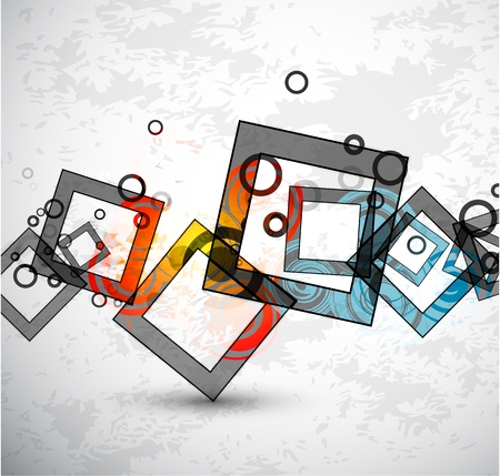 grunge banner: Abstract grunge squares. Vector background