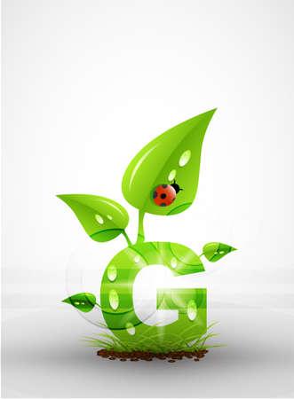 Vector green letter background Stock Vector - 9840407