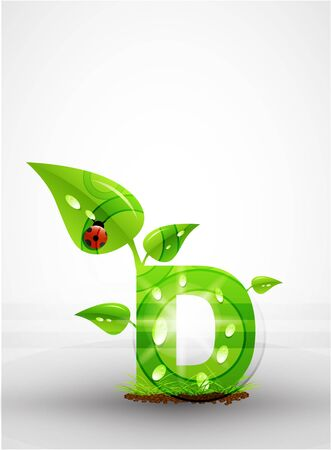 Vector green letter background Stock Vector - 9840408