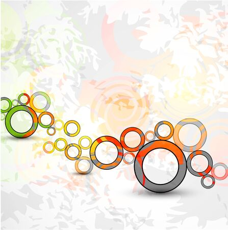 Vector abstract color grunge circles background Stock Vector - 9840446