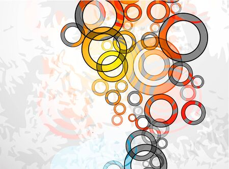 rectangles: Vector abstract color grunge circles background