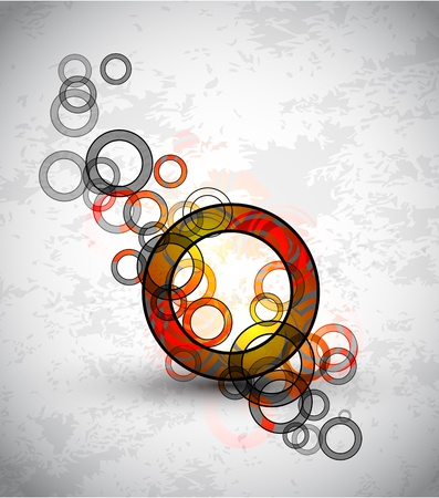 Vector abstract color grunge circles background Vector