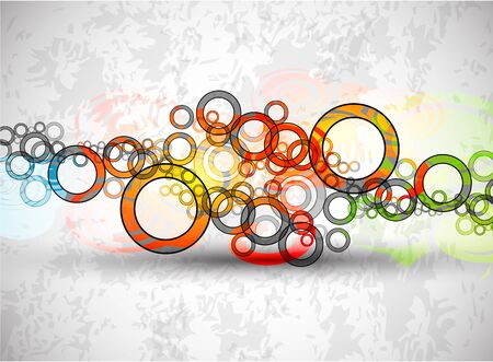 Vector abstract color grunge circles background Stock Vector - 9840493