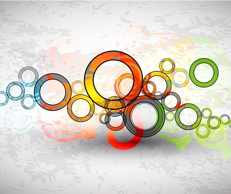 Vector abstract color grunge circles background Stock Photo - 9840368