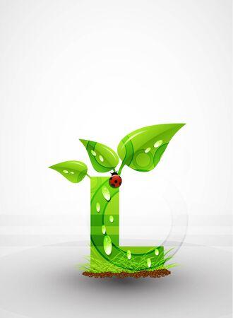 Vector green letter background Stock Vector - 9840378