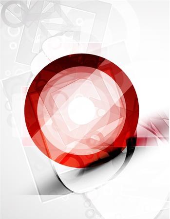 Abstracto forma redonda roja. Tecnología de vectores