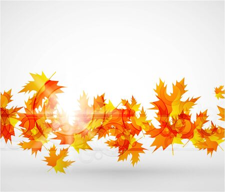 Vector autumn leaves abstract background Stock Photo - 9840337