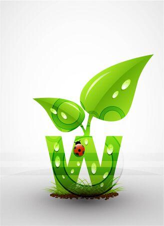 Vector green letter background Stock Vector - 9840402
