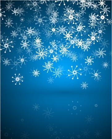 christmas flake: Christmas abstract background