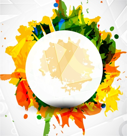 Abstract colorful shapes background Illustration