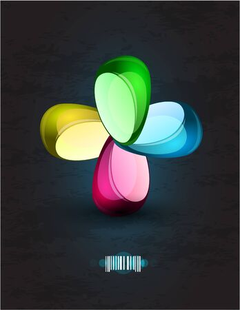 Abstract glossy shapes design Vector