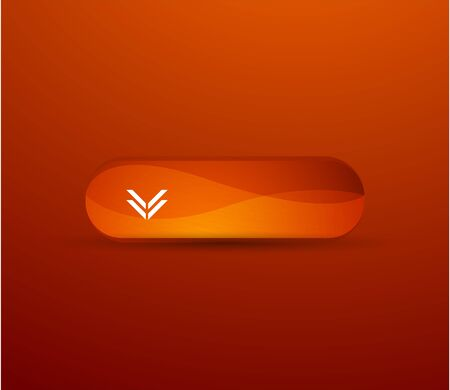 Orange glossy button Vector