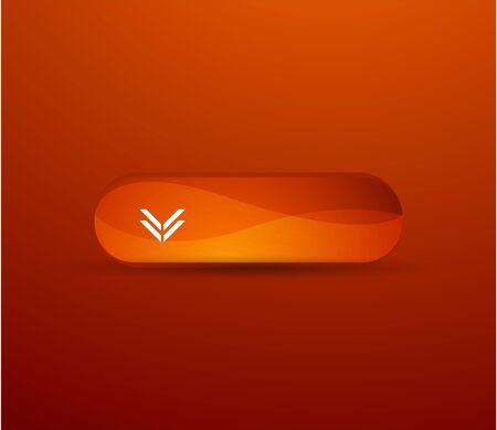 Orange glossy button Vector