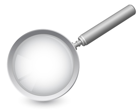 investigation: magnifying glass Illustration