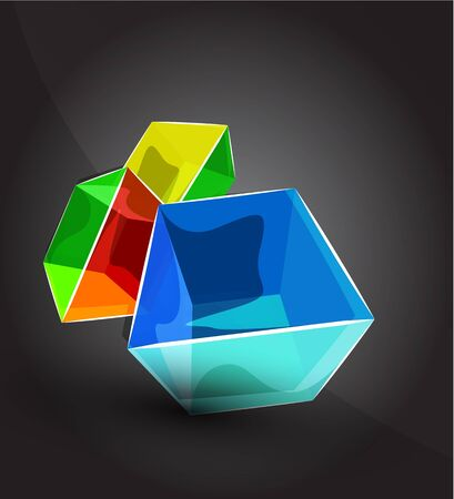 cube background Vector