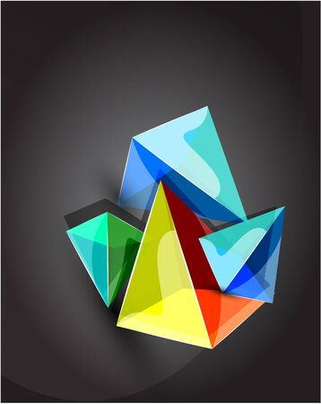abstract pyramid background Stock Vector - 9933585