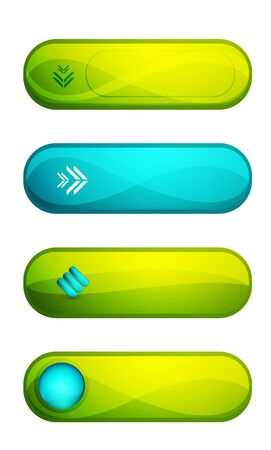 a set of buttons Vector