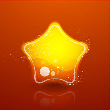 Abstract glass star Stock Vector - 9988787