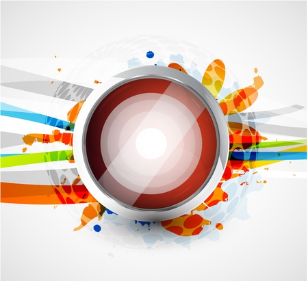 Abstract lines with circle background Vector
