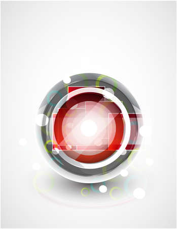 Glass sphere abstract background Stock Vector - 9989125