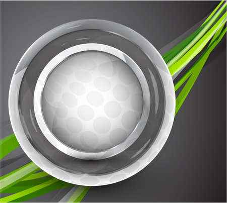 Glass sphere  abstract background Vector