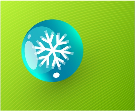 Abstract sphere with snowflake icon button Vector